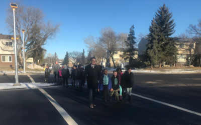 Elementry students petiton for new crosswalk