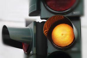 Running a yellow light