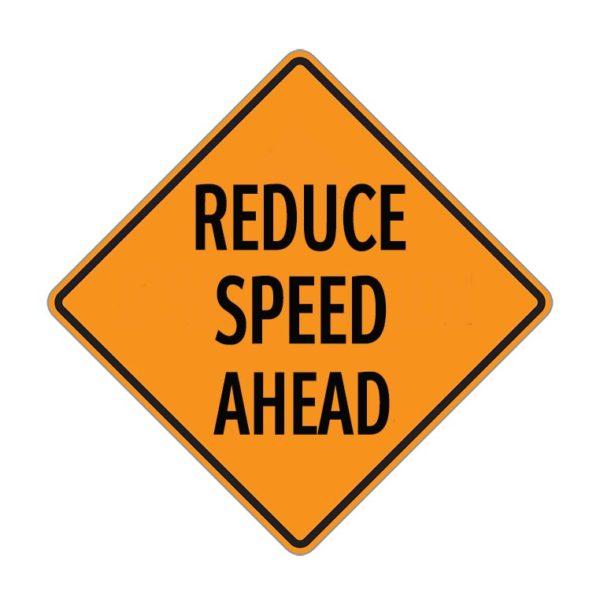 reduce speed ahead
